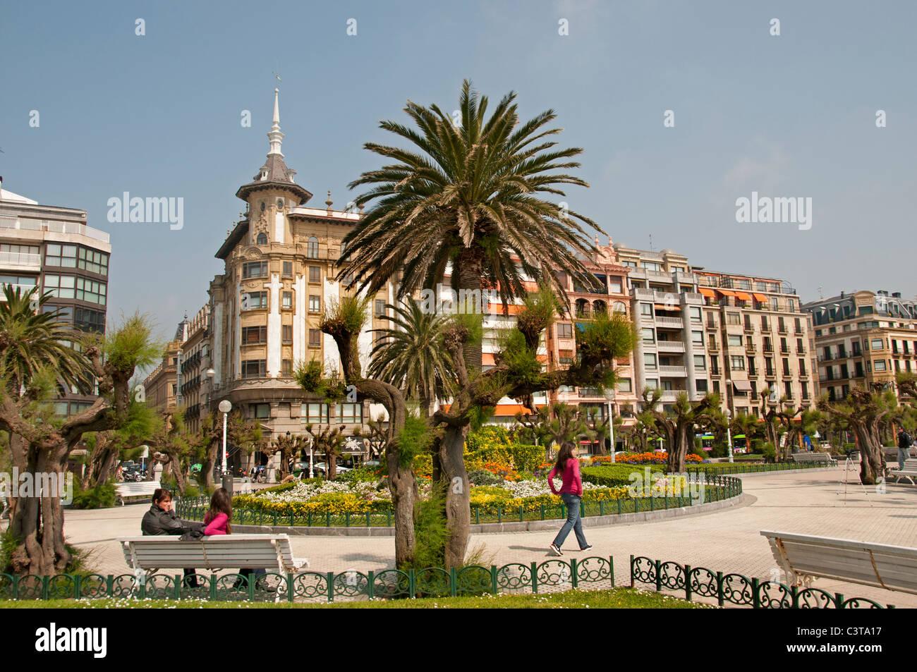 Parque de Alderi Eder Garden San Sebastian Spain Spanish Basque ...
