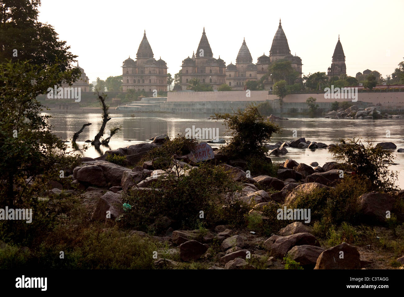 Chhatris in Orchha, Madhya Pradesh, India, Asia - Stock Image
