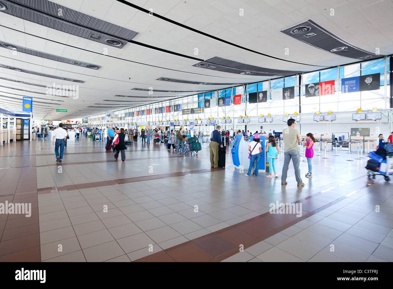Arturo Merino Benitez International Airport, Santiago, Chile - Stock Image