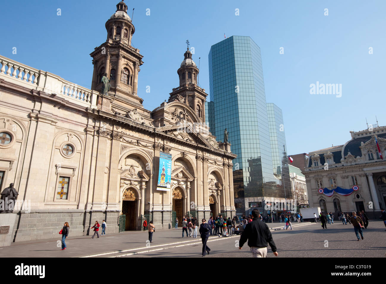 The Cathedral of Santiago de Chile - Stock Image