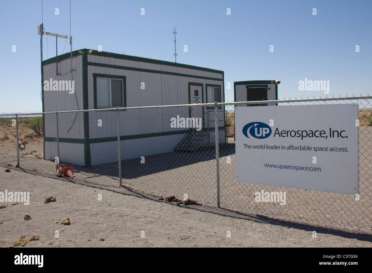 UP Aerospace, Inc, Spaceport America, near Truth or Consequences, NM - Stock Image
