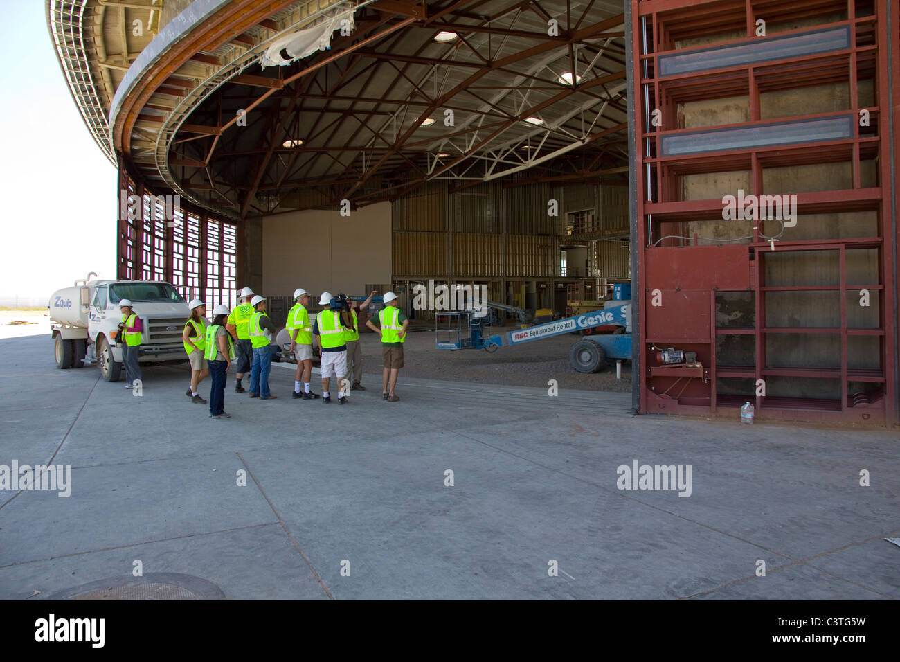 Spaceport America, Virgin Galactic Terminal Hangar Facility, near Truth or Consequences, NM - Stock Image