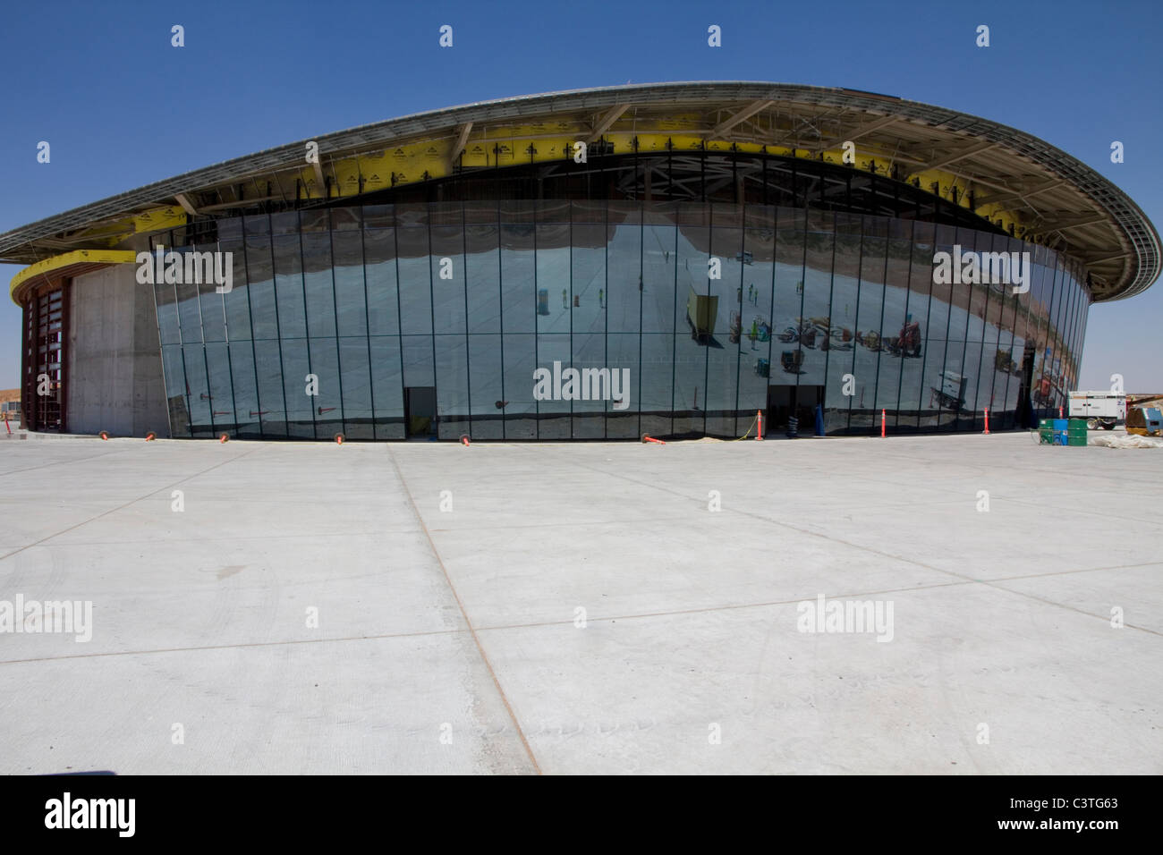 Virgin Galactic, Terminal Hangar Facility, Spaceport America, near Truth or Consequences, NM - Stock Image