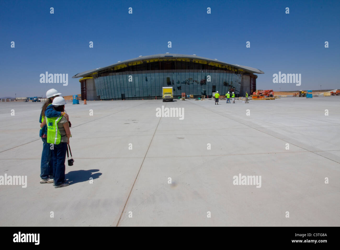 Virgin Galactic Terminal Hangar Facility, near Truth or Consequences, NM - Stock Image