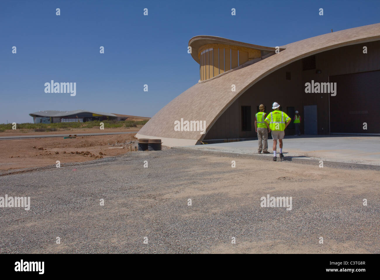 Aircraft Rescue Fire Fighting Facility (ARFF), Spaceport America, near Truth or Consequences, NM - Stock Image