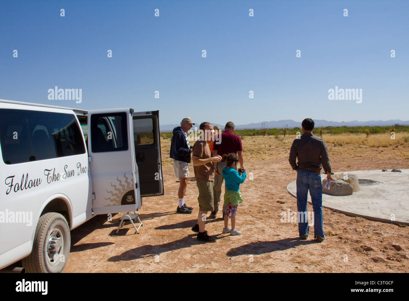 Preview Tour of Spaceport America, the world's first commercial spaceport, near Truth or Consequences, NM - Stock Image