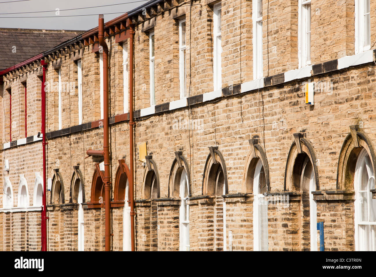 Workers houses near Salts mill in Saltaire, Yorkshire, UK. Stock Photo