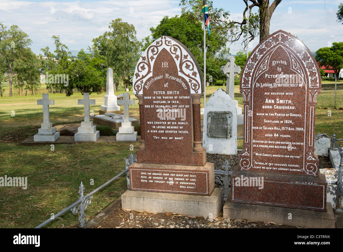Cemetery, Talana Museum, Dundee, South Africa - Stock Image