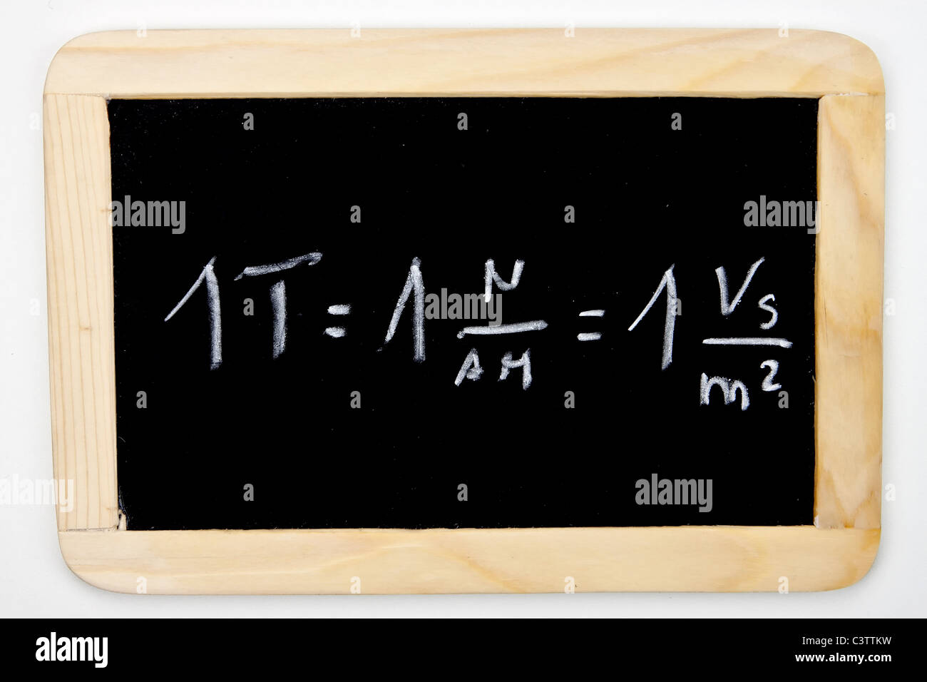a mathematical formula on a chalkboard - Stock Image
