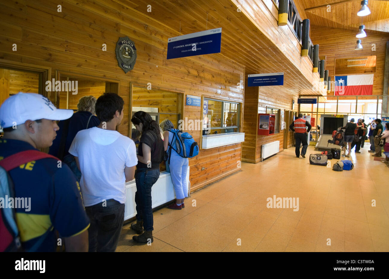 Immigration control Chilean border - Stock Image