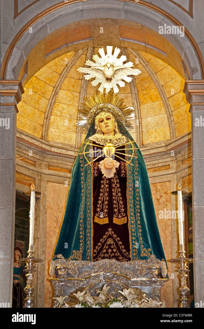 Church of San Nicolas Santa Claus Coruna Spain - Stock Image