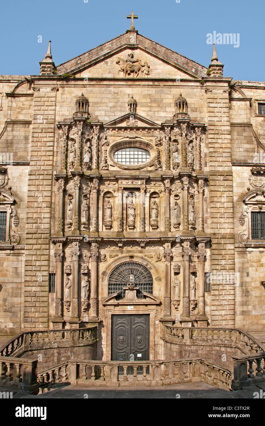 Monastery of San Martin Pinario Santiago de Compostela  Spain - Stock Image
