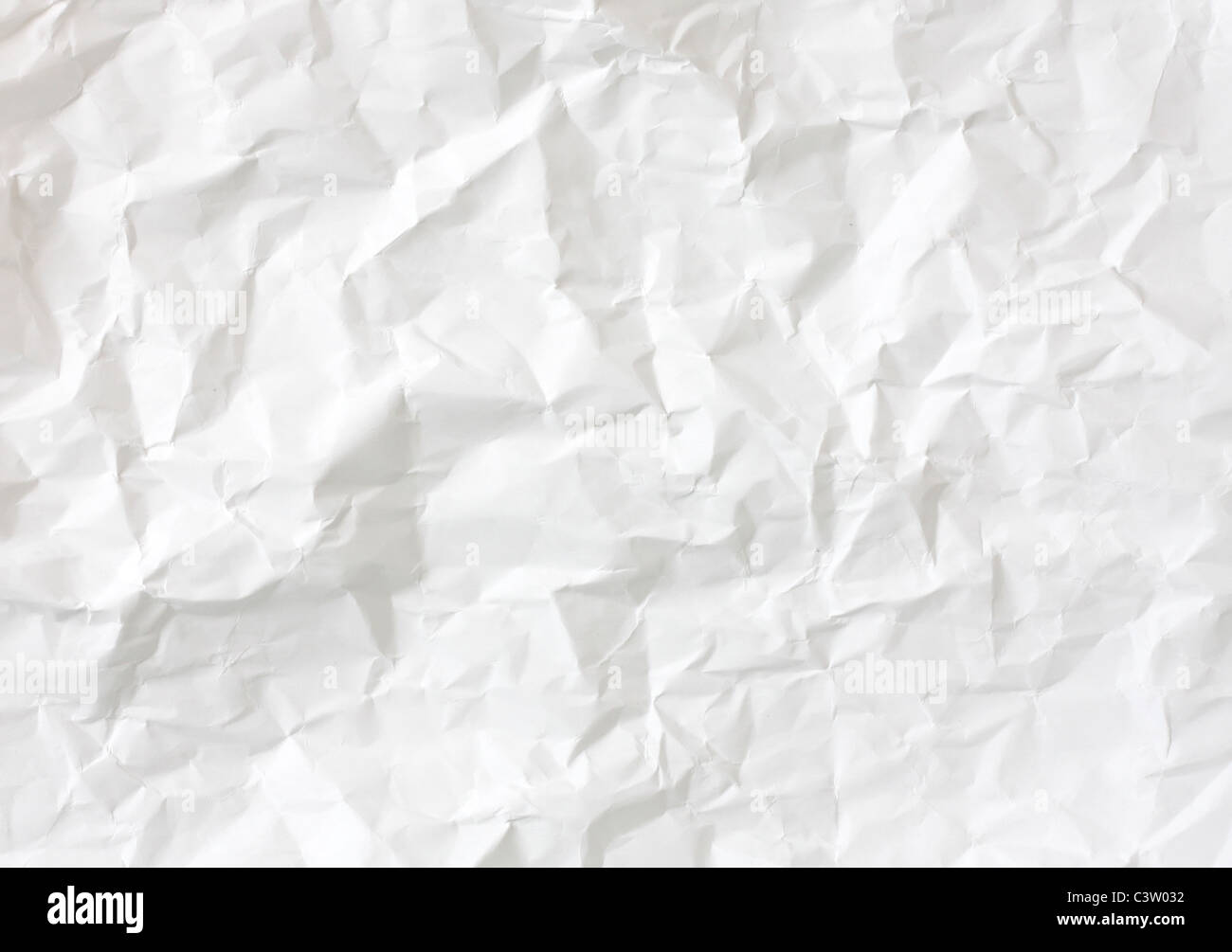 Crumbled paper - Stock Image