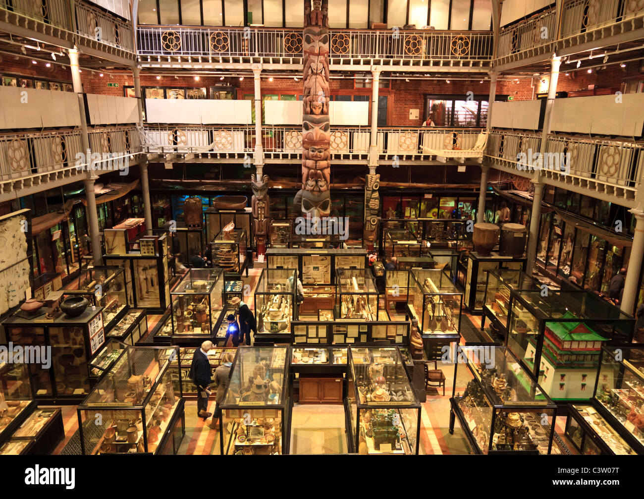 The Pitt Rivers Museum at the Oxford University Natural History Museum, Oxford, England - Stock Image