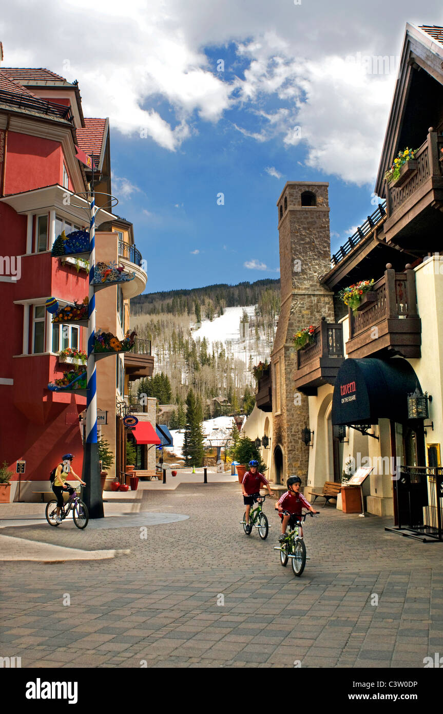 Buildings in Vail - Stock Image