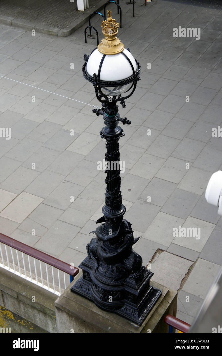 City of Westminster Lamp post, London Embankment - Stock Image