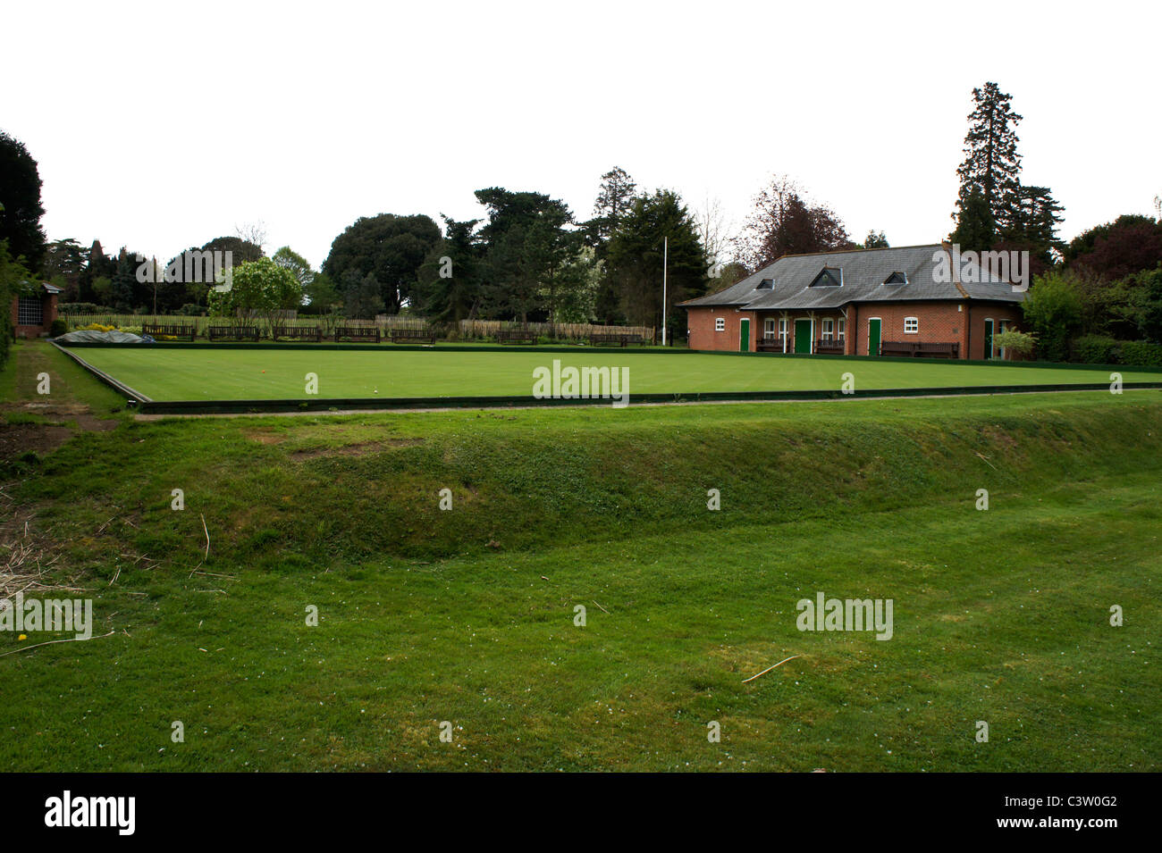 Abingdon Lawn Bowls Club, Albert Park, Abingdon - Stock Image