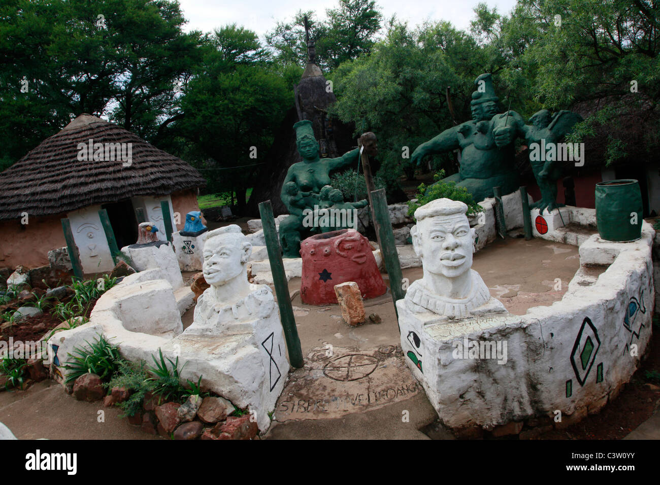 The Credo Mutwa cultural village. Soweto, South Africa. Stock Photo