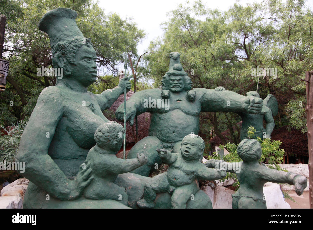 The Credo Mutwa cultural village. Soweto, South Africa. Picture by Zute Lightfoot. Stock Photo