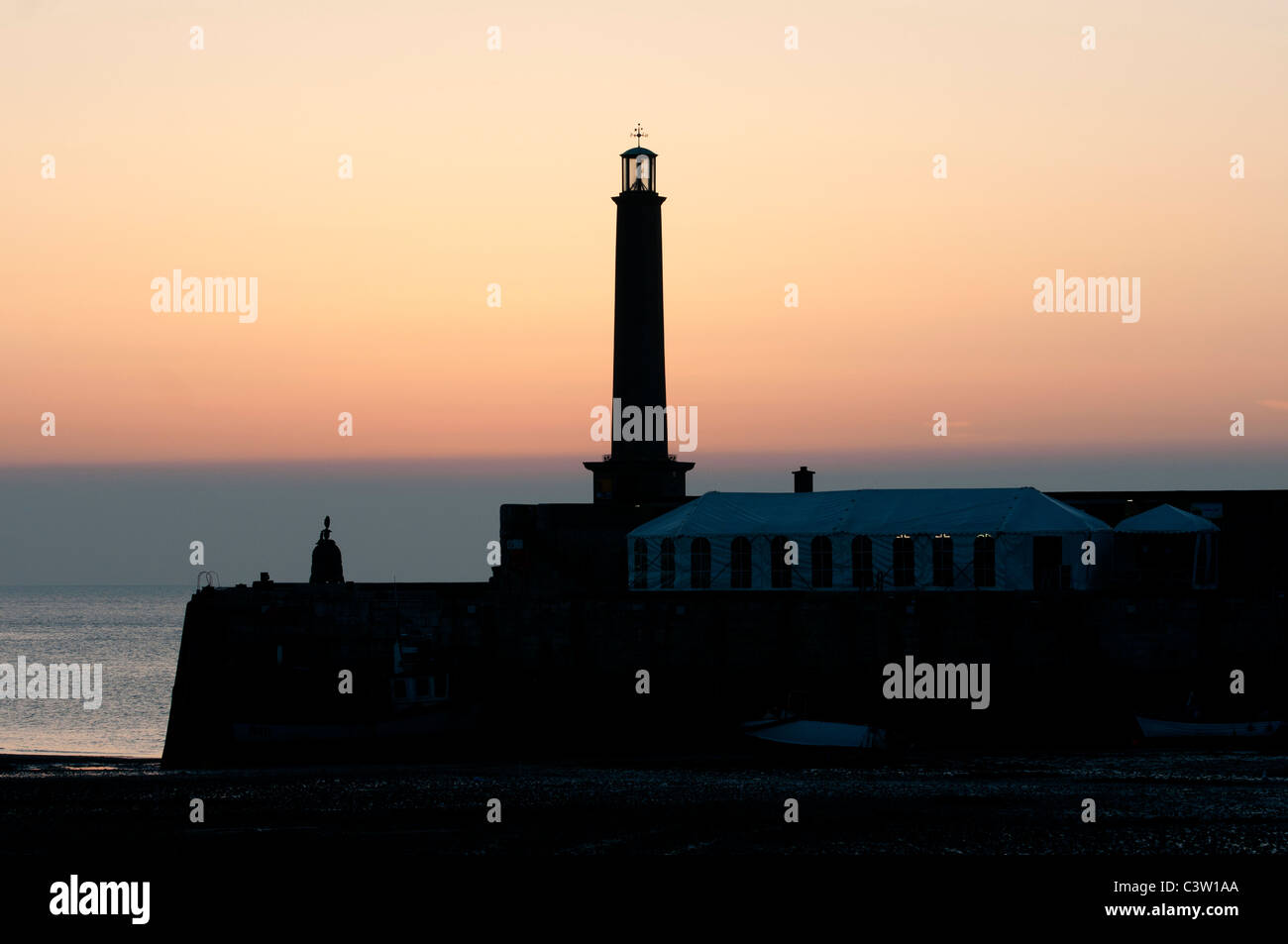 Sunsetting over the harbour Margate Kent Isle of Thanet - Stock Image