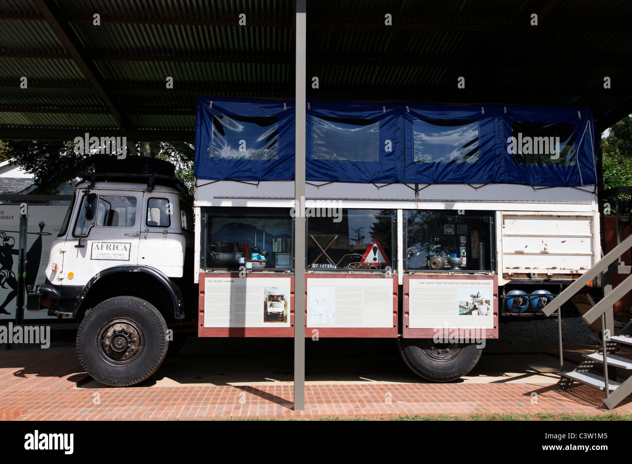 Overland Truck Used To Smuggle Weapons Into South Africa The Museum Stock Photo Alamy