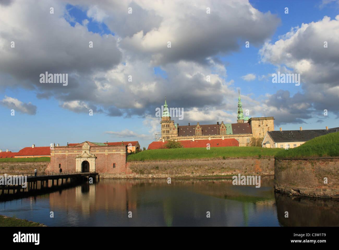 Kronborg Castle - Hamlet´s Castle - in Helsingør, Denmark. - Stock Image