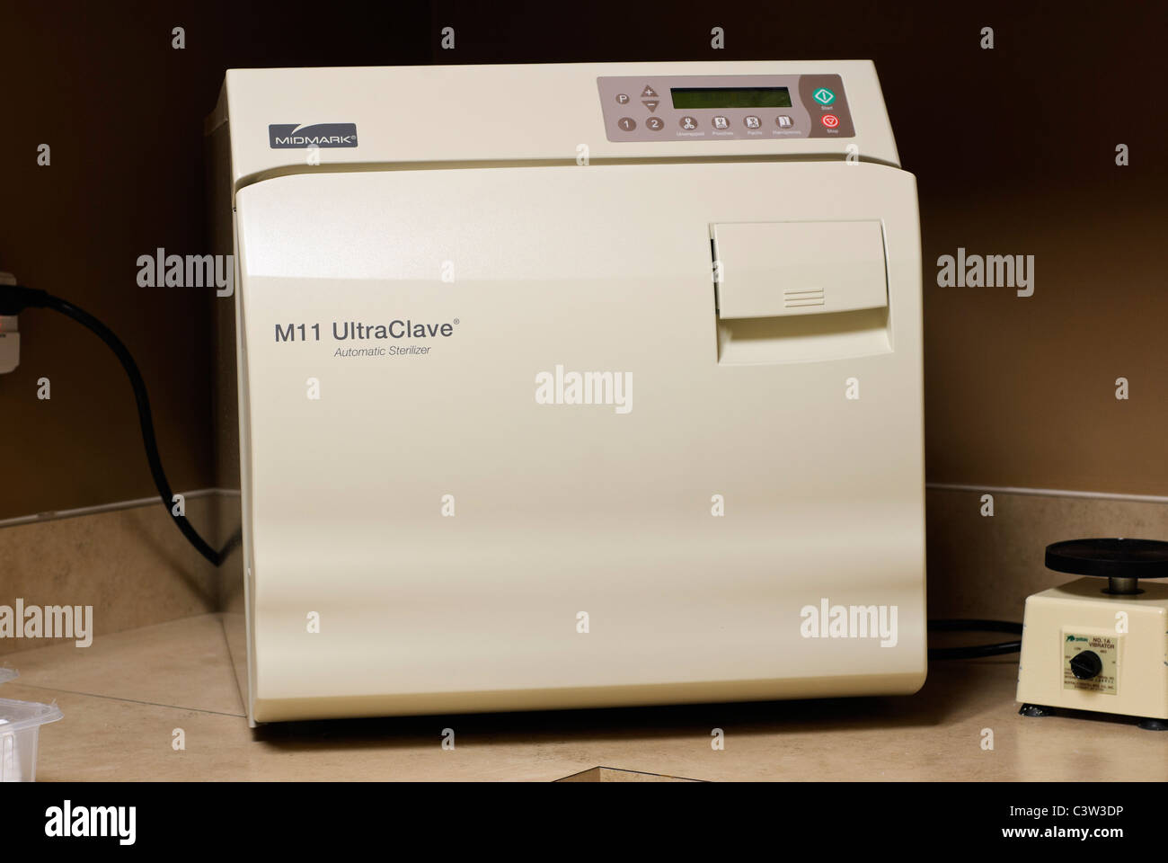 New ultraclave equipment in a dental clinic. - Stock Image