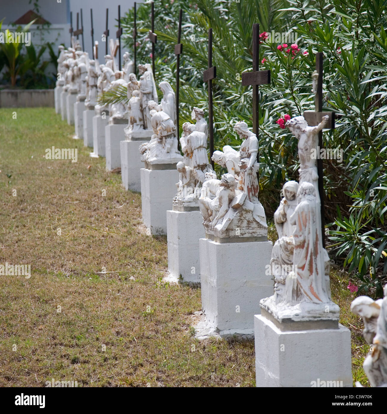 'Our Lady Of Perpetual Help' Statues on Grounds - Stock Image