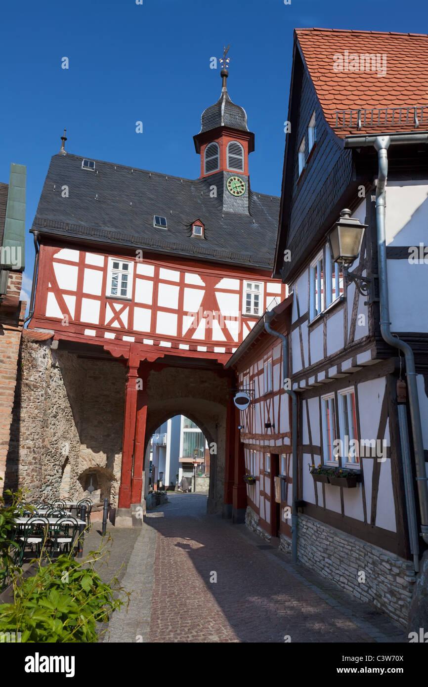 The historical Altstadt (Old Town) of Koenigstein. A beautiful town in the Taunus near Frankfurt. - Stock Image