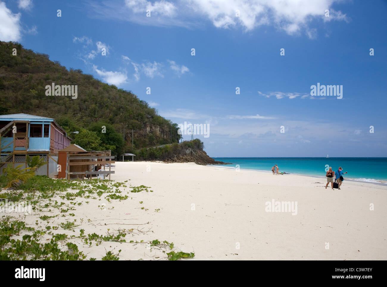Darkwood Beach in Antigua Stock Photo