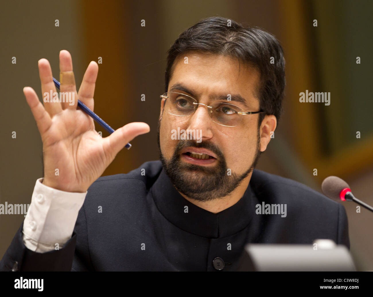 Mirwaiz Umer Farooq, Chairman, All Parties Hurriyat Conference, Jammu and Kashmir - Stock Image