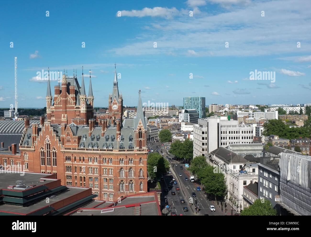 St Pancras Station London - 1 - Stock Image