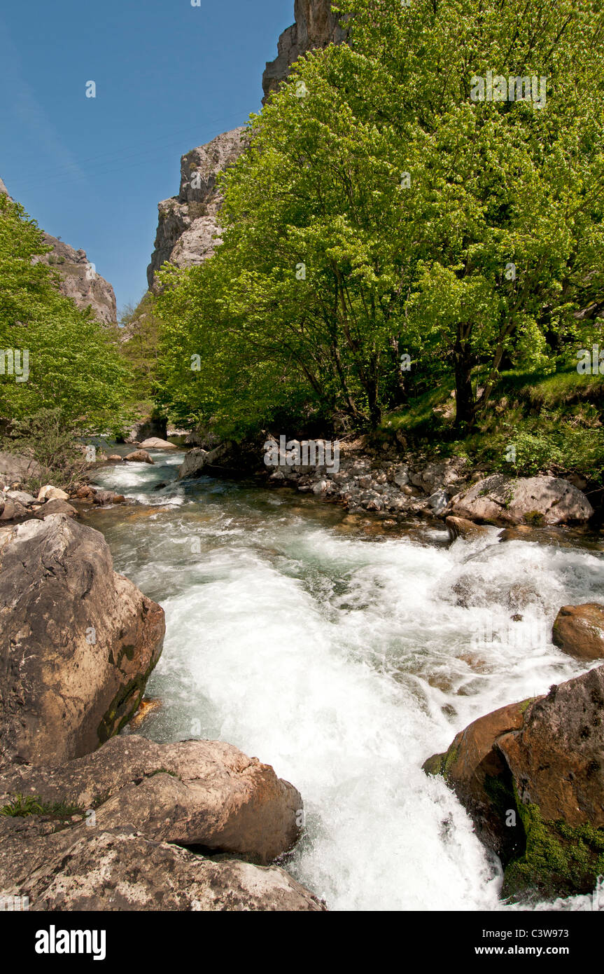 The Picos de Europa northern coast of Spain Cantabrian Mountains - Stock Image