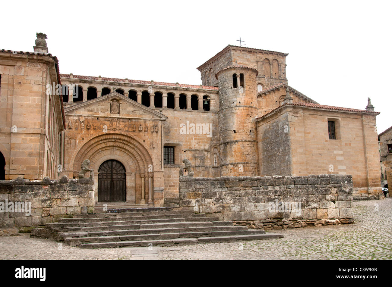 Santillana del Mar Cantabria Spain Spanish town - Stock Image