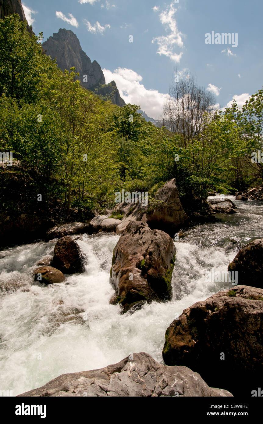 The Picos de Europa northern coast of Spain Cantabrian Mountains - Stock Image
