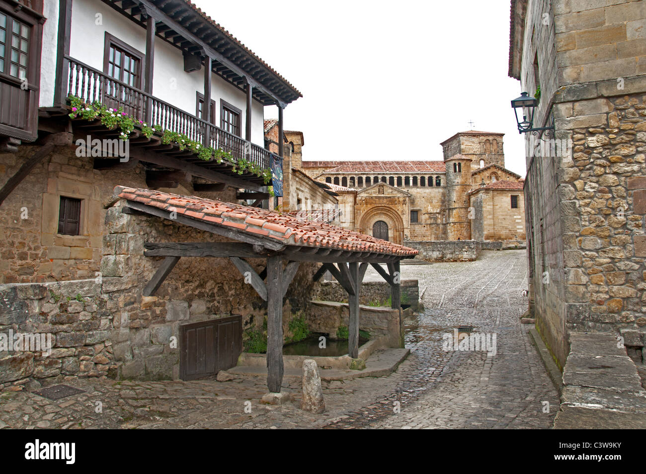 Santillana del Mar Cantabria Spain Spanish town - Stock Image