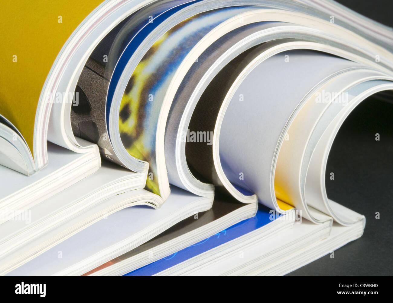 Magazine stack - Stock Image