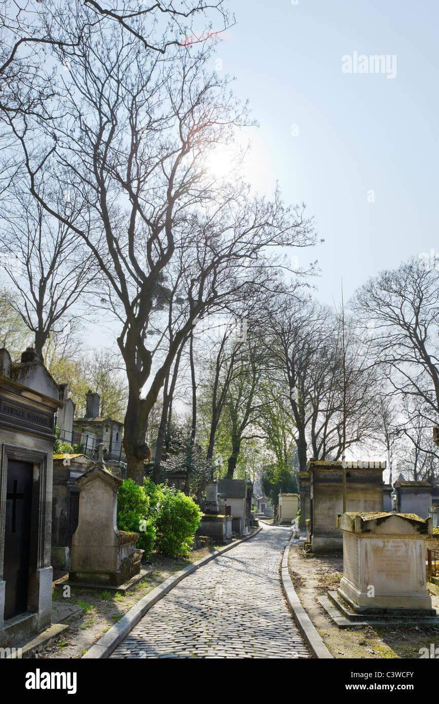 Pere Lachaise Cemetery, 20th Arrondissement, Paris, France - Stock Image