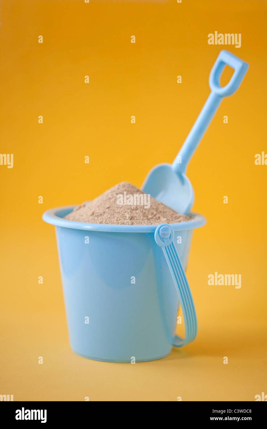 full sand bucket - Stock Image