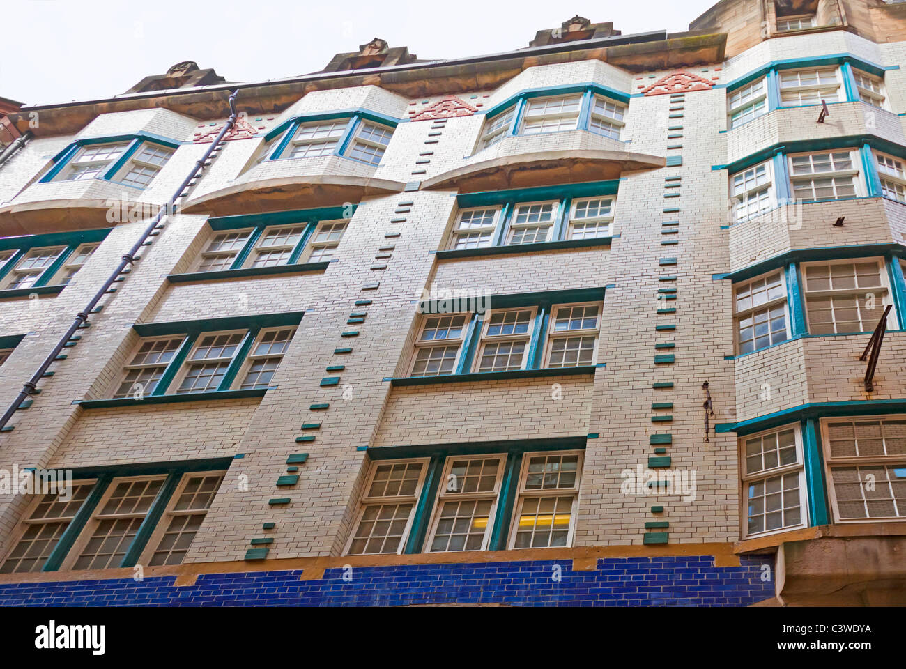 Facade of the Daily Record Building, designed by Glasgow Architect Charles Rennie Mackintosh, opened in 1904. Art - Stock Image