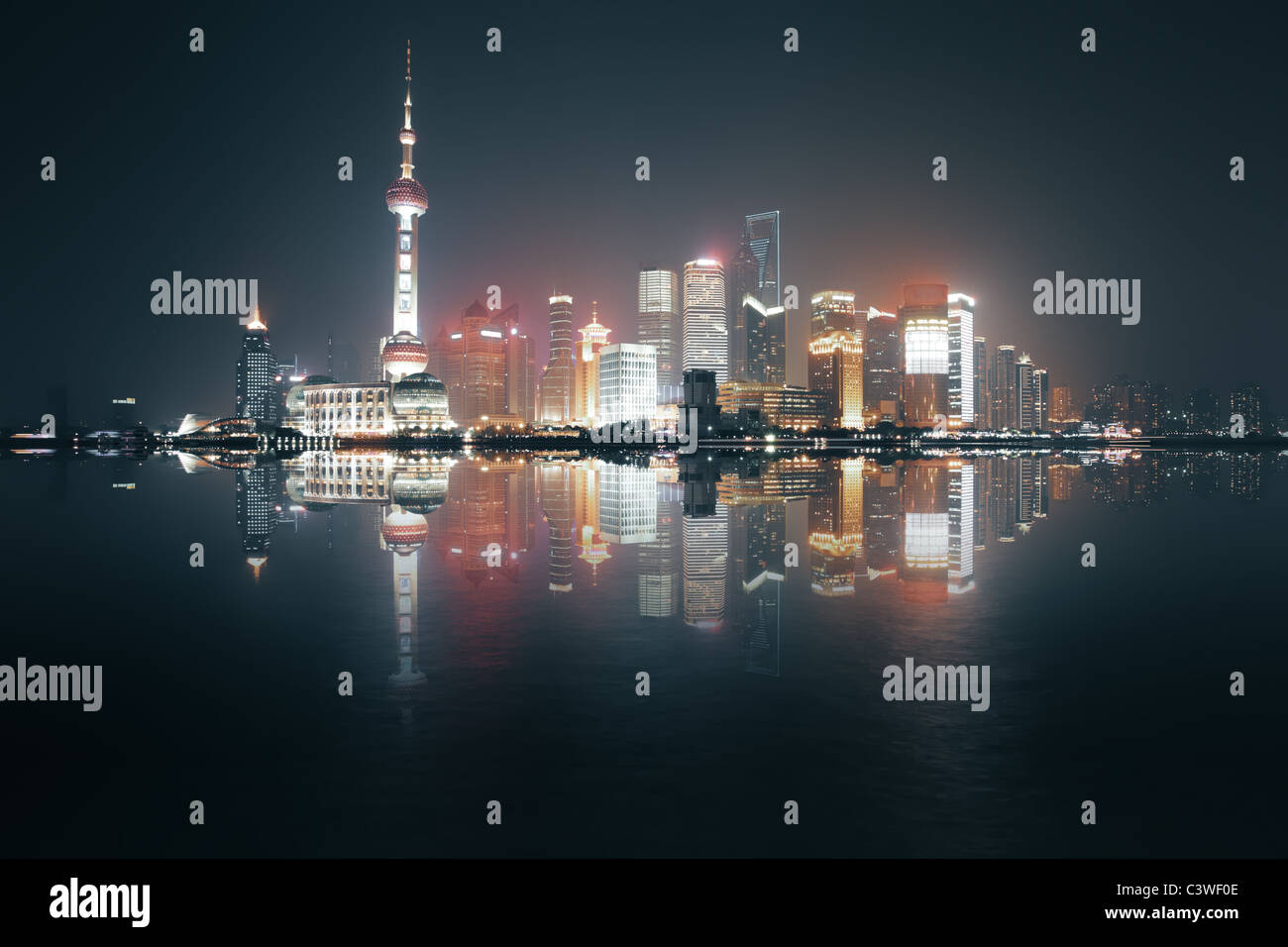 Night view of Shanghai, China - Stock Image