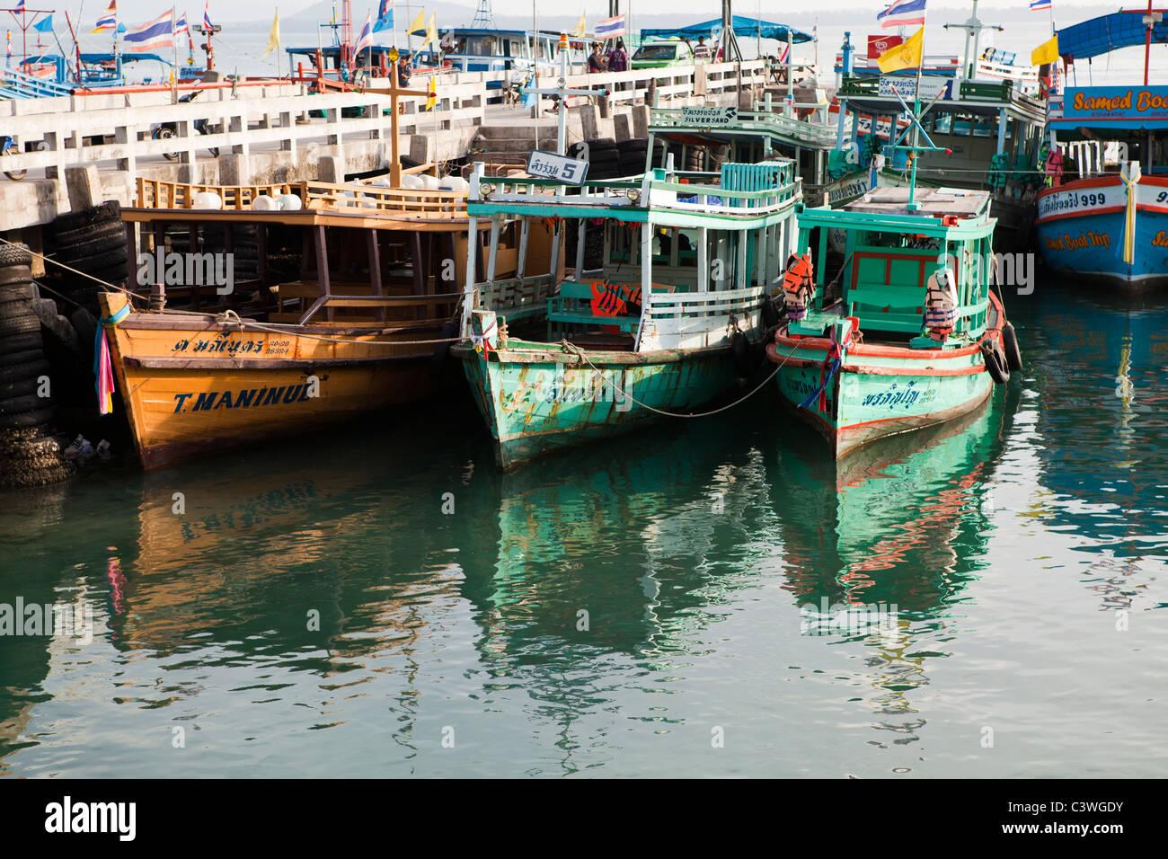 Koh Samet Ferryboats at Na Dan Port - Stock Image