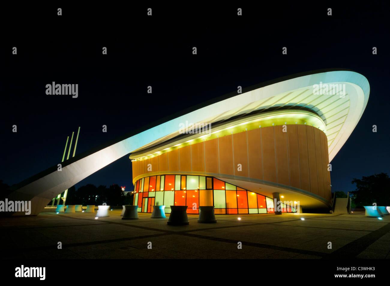 Haus der Kulturen der Welt, Kongresshalle, Congress Hall, Schwangere Auster, Berlin, Germany - Stock Image