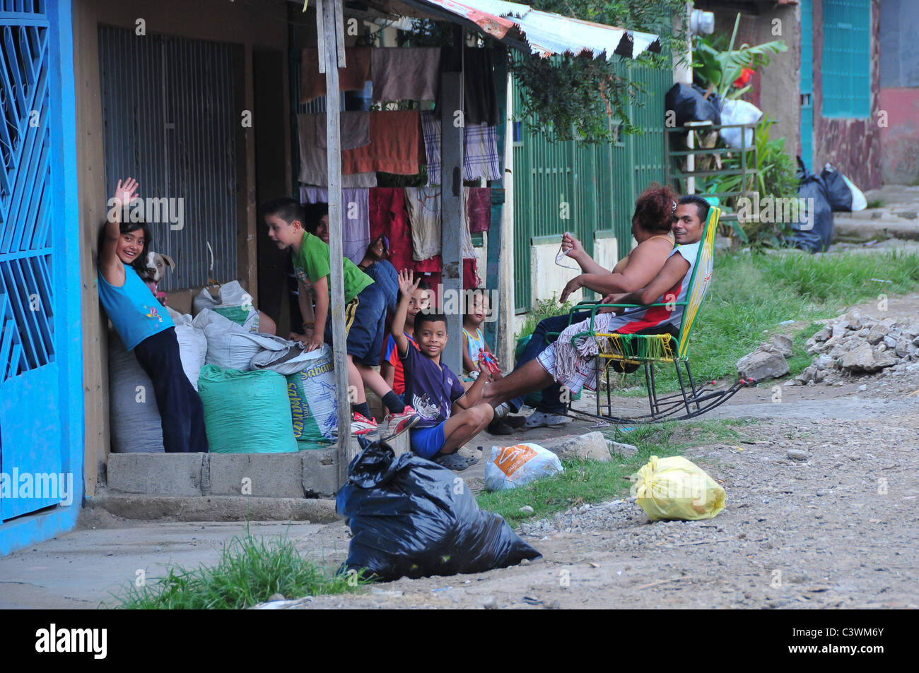 Impoverished Neighbourhood of La Carpio San José Costa Rica - Stock Image