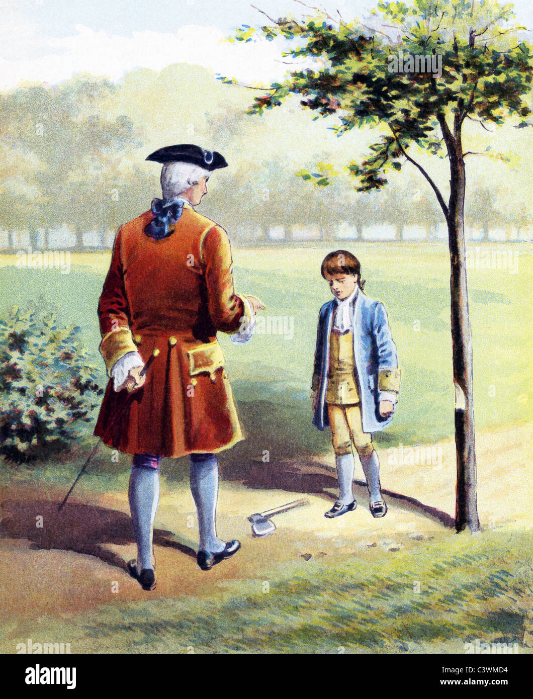 Tradition says when Washington's father asked if he had chopped ...