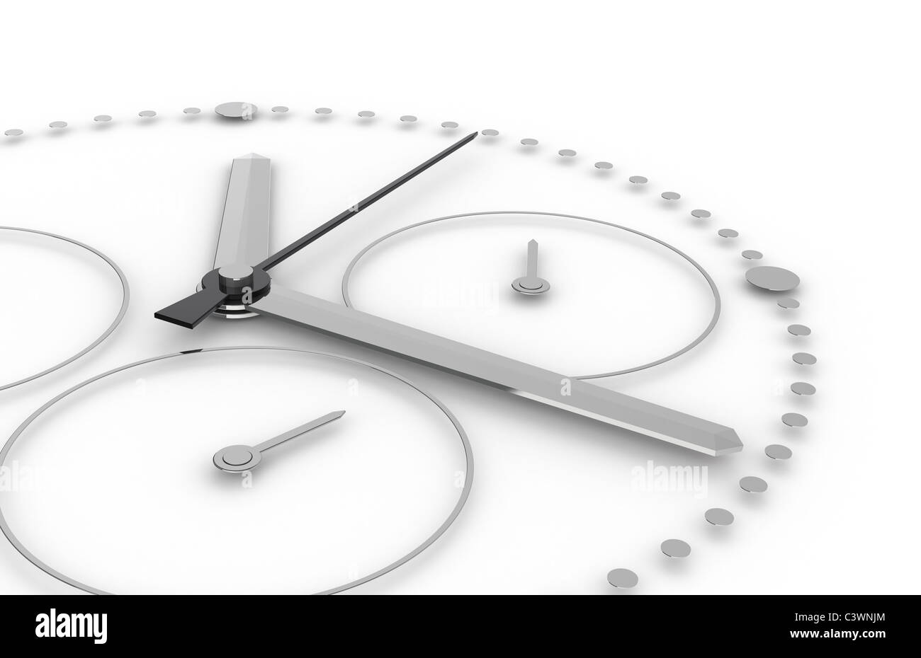 Time. Perspective view of a Chronograph Watch - Stock Image