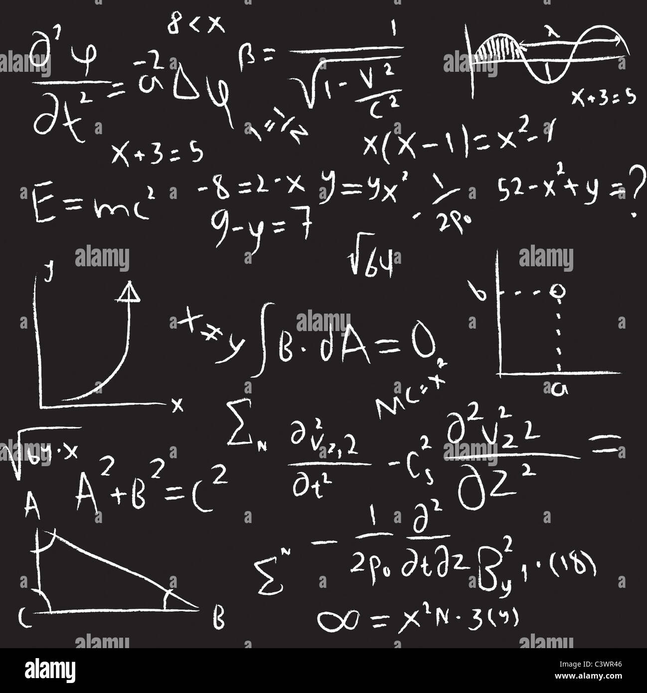 Equations - Stock Image