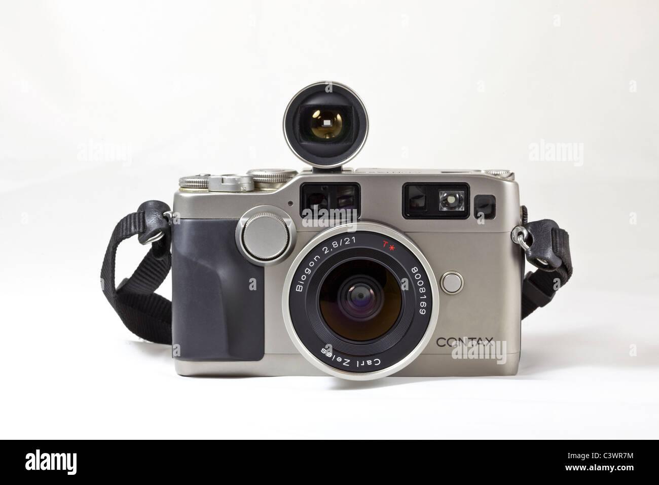 Legendary Contax G2 classic 35mm SLR 'rangefinder type' film camera - Stock Image