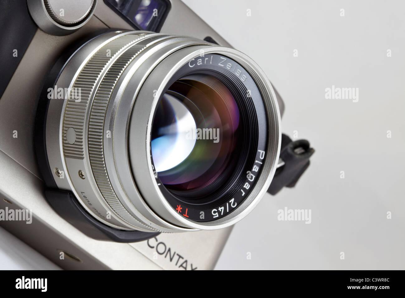 film camera. Contax G2 35mm rangefinder Stock Photo