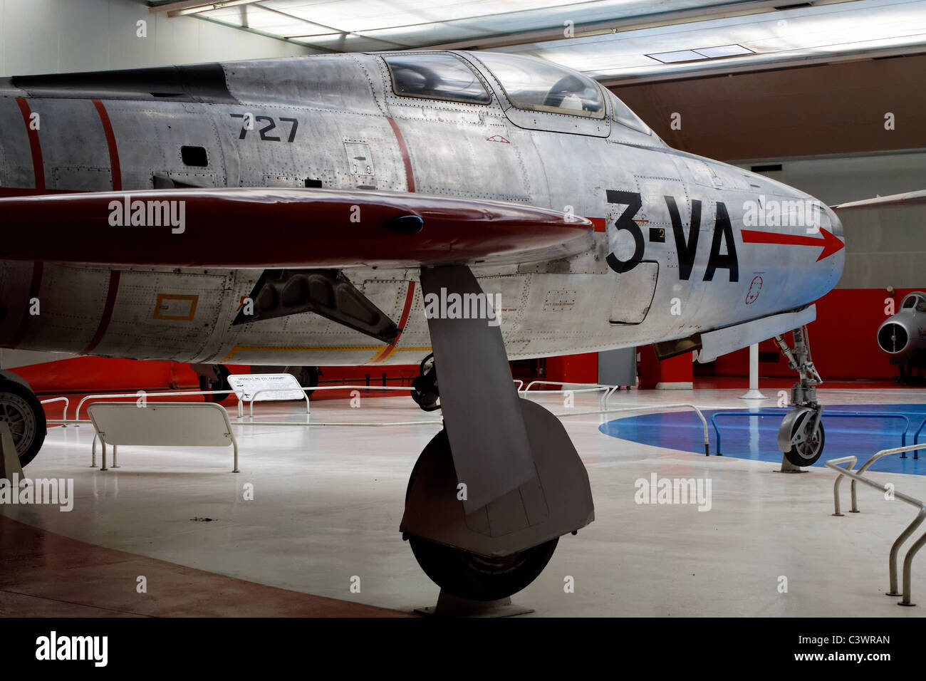 General Motors F-84F Thunderstreak, French Air Force, Air and Space Museum, France - Stock Image